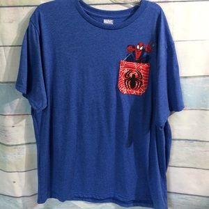Men's Marvel Spider-Man Blue Tee